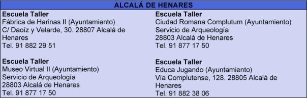 Escuelas-Taller de Alcalá de Henares